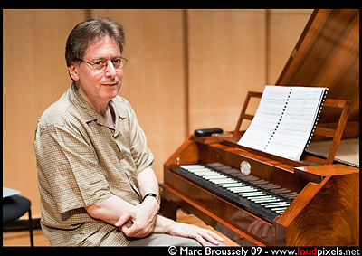 Robert Levin rehearsing in Queen Elizabeth Hall - 30 May 2009