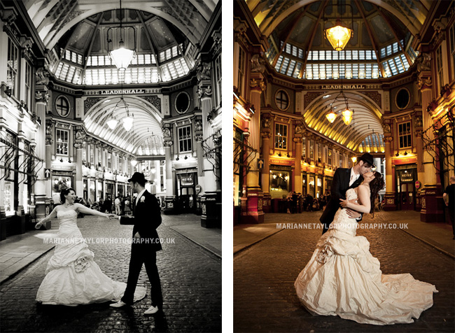 Carolyn and myself on our Big Day - Leadenhall Market, City of London, August 15th