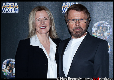 Anni-Frid Lyngstad and Bjorn Ulvaeus of ABBA at the ABBAWORLD premiere in Earls Court on 26 Jan. 2010